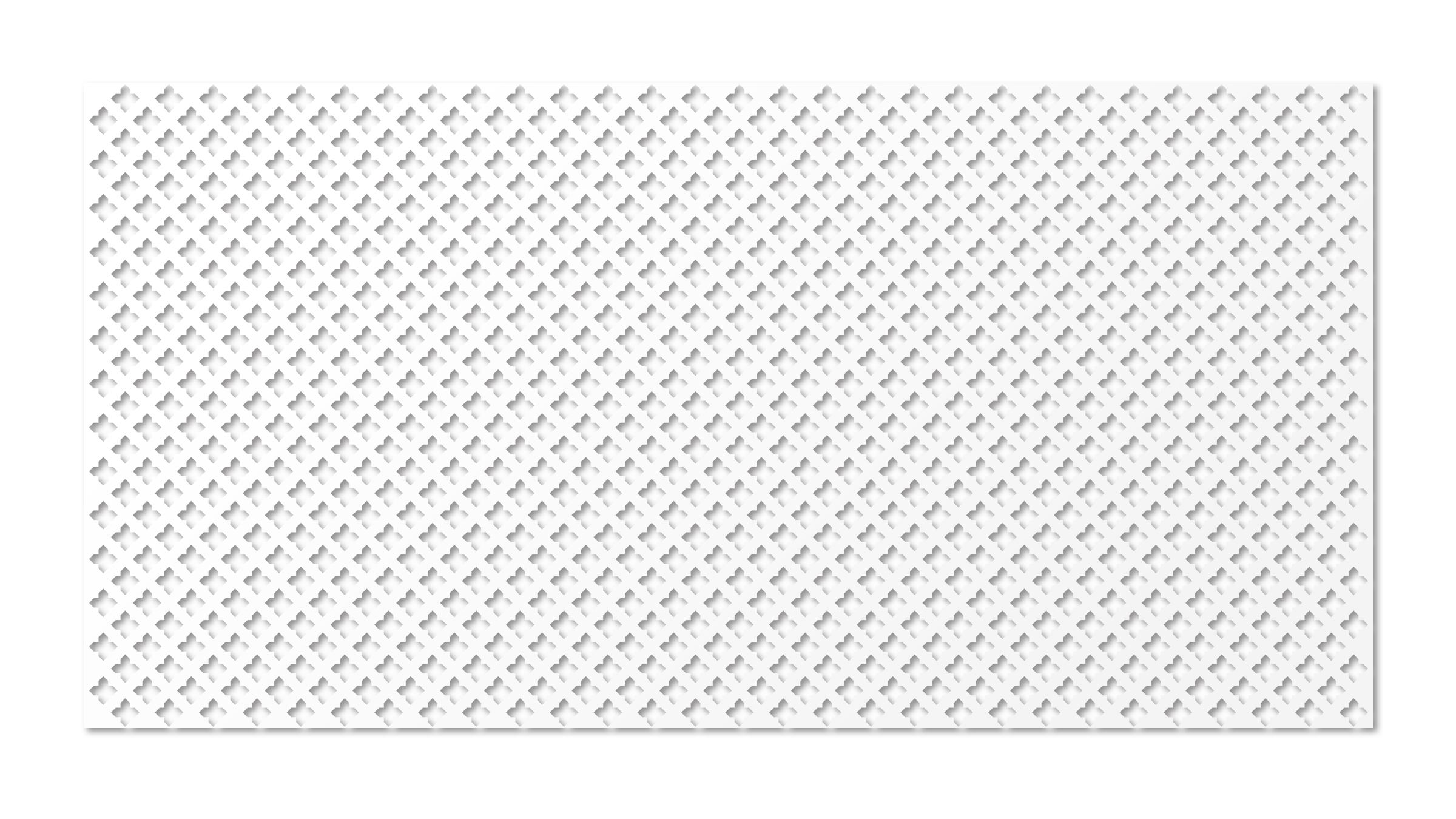 Перфорированная ХДФ панель Готико белый v546926 купить
