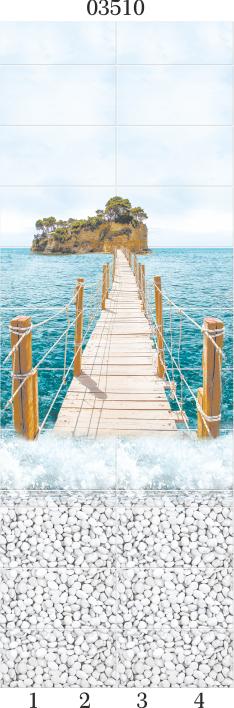 Панели ПВХ Panda c 3D эффектом Море 03510