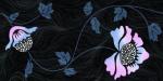 Керамическая плитка Нефрит-Керамика Вставка 04-01-1-10-03-65-122-1 Цветы