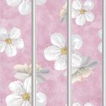 Стеновые панели ПВХ Весна розовый (Серебро)