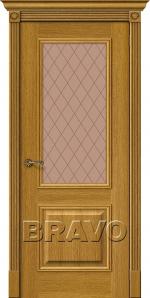 Двери Межкомнатные Вуд Классик-13 Natur Oak Bronze Сrystal