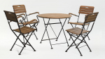 Мебель Садовая мебель Стол круглый 80*80 см + 4 стула с подлокотниками HolzHof