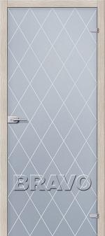 Двери Межкомнатные СТ-1 Кристалл Сатинато Белое