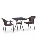 Мебель Садовая мебель Набор 2+1 T282BNT/Y35-W2390 Brown 2Pcs