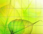 Стеновые панели ПВХ Стеновые 3D панели Северное Сияние Желто-зеленое