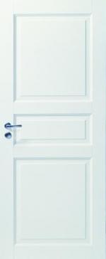 Двери Межкомнатные Дверь белая массивная 3-х филенчатая глухая №101