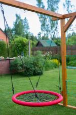 Мебель Садовая мебель Качели-гнездо 110 см круглые красные