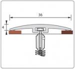 Подложка, порожки и все сопутствующие для пола Порожки Порог одноуровневый 36 мм