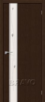 Двери Межкомнатные Глейс-1 Sprig 3D Wenge