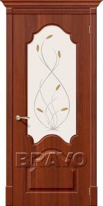 Двери Межкомнатные Скинни-33 П-31 (Итальянский Орех) СТ-Орхидея