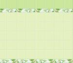 Стеновые панели ПВХ Яблоневый цвет зеленый ФОН