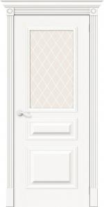 Двери Межкомнатные Вуд Классик-15.1 Whitey White Сrystal