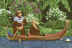 Ковры Нева Тафт Карпет Маша и Медведь на лодке