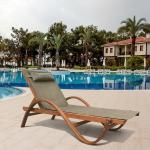 Мебель Садовая мебель Шезлонг-лежак Мальта оливковый AFM-511