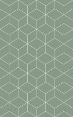 Керамическая плитка Шахтинская плитка (Unitile) Веста зеленая низ 02