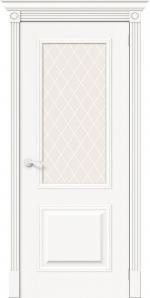 Двери Межкомнатные Вуд Классик-13 Whitey White Сrystal