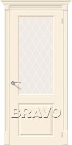Двери Межкомнатные Скинни-13 Cream White Сrystal