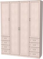 Мебель Модульная мебель Уют Шкаф для одежды 112 Дуб молочный