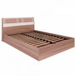 Мебель Витра Кровать с подъемным механизмом Розали 96.21.1 ясень Шимо темный, Крем-брюле глянец, Мокко глянец