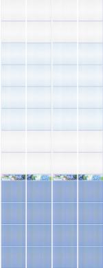 Стеновые панели ПВХ Алеста Голубая фон