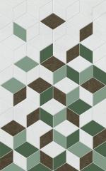 Керамическая плитка Шахтинская плитка (Unitile) Веста зеленый декор 01