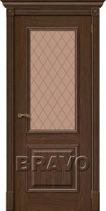 Двери Межкомнатные Вуд Классик-13 Golden Oak Bronze Сrystal