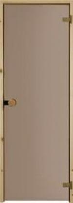 Двери Межкомнатные Дверь для сауны с круглой ручкой бронзовая №81