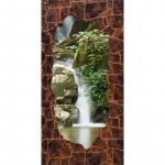 Стеновые панели МДФ Водопад под темно-коричневый камень
