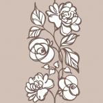 Стеновые панели ПВХ Розы светло-бежевые 372-3