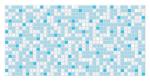 Стеновые панели Листовые Мозаика Голубая