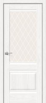 Двери Межкомнатные Прима-3 White Dreamline white crystal