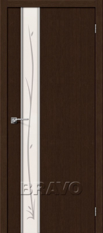Двери Межкомнатные Глейс-1 Twig 3D Wenge