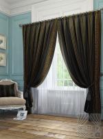 Товары для дома Домашний текстиль Бовье (черно-золот.) 950013