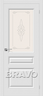 Двери Межкомнатные Скинни-15 П-23 (Белый) остекленное