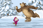 Ковры Нева Тафт Карпет Маша и Медведь на льду