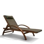 Мебель Садовая мебель Шезлонг-лежак Мальта оливковый AFM-512