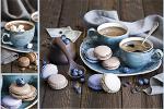 Стеновые панели Кухонные фартуки Голубой сервиз 070201-00
