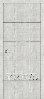 Двери Межкомнатные Порта-50А-6 Bianco Crosscut