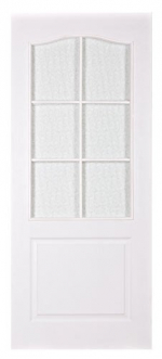 Двери Межкомнатные Дверь Классик ламинированная с рамкой без стекла Белый