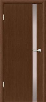 Двери Межкомнатные Гранд-М  исп. 1  вариант 1 с белым триплексом Темный орех, миланский орех