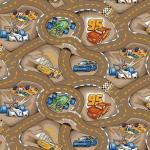 Ковролин Нева Тафт Детский ковролин Гонки 17 М (4*4м) с оверлоком