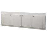 Мебель Мебель для ванной Экран под ванную 17 (с рисунком) белая