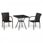 Мебель Садовая мебель Набор 2+1 T282BNT-W2390/Y282-W52 Brown 2Pcs
