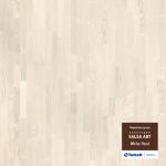 Паркетная доска Tarkett Ясень White Pearl (белый-розовый)
