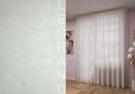 Товары для дома Домашний текстиль Тюль Лён с утяжелителем белый с серебром