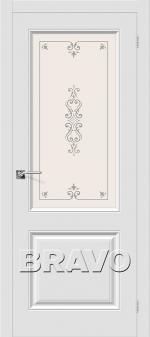 Двери Межкомнатные Скинни-13 П-23 (Белый) остекленное