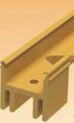 Подложка, порожки и все сопутствующие для пола Порожки Монтажная планка к гибкому порогу  Rico Flex (6-18мм)