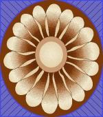 Ковры Ковры Турции Круглый ковер 8554b V круг (0.8*0.8м)