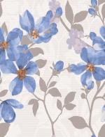 Керамическая плитка Lasselsberger Ceramics Натали Флауэр 1034-0173 голубая 25х33