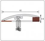 Подложка, порожки и все сопутствующие для пола Порожки Порог разноуровневый 42 мм